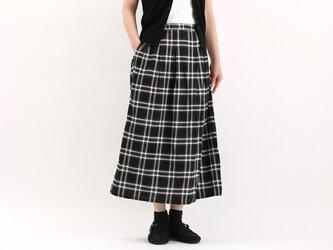 タックギャザースカート(チェック)#365の画像