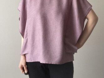 着物リメイクブラウス 江戸小紋紫小花の画像