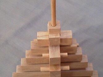 木のオブジェ 15段ピラミッドツリーの画像