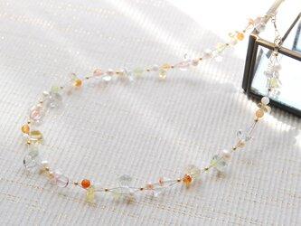 夏色のナイロンコートワイヤーネックレス ビタミンカラー14kgfの画像