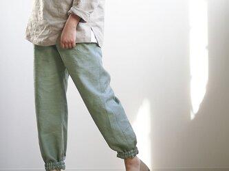 【wafu入門編】数量限定! リネンもんぺ ポケットなし 男女兼用 ヨガ やや薄手/せいじねず b005h-snz1の画像