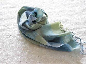 <六色> コットンstole 手織りの画像
