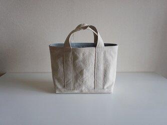 TOTE BAG -bicolor- (M) / ecru × pearlgrayの画像