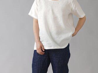 【LLサイズ】【wafu】雅亜麻リネンTシャツ インナー ブラウス ペチコート 半袖 丸首/白色 p015a-wht1-LLの画像
