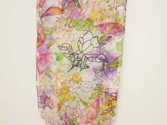 sakira風の庭シルクストールリーフ型 いとしい君へ・ピンク SL-S0091PIの画像