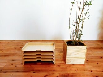 ■温かい木目のレタートレー(A4)/書類トレー/ファイルトレー/木製トレイ/おしゃれ/シンプル/ラーチ合板/インテリアの画像