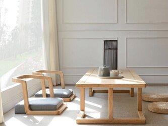 受注受注生産 職人手作り スツール 椅子 座椅子 家具 天然木 無垢材 木目 テレワーク ウォールナット エコ LR2018の画像