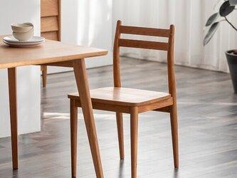 受注生産 職人手作り スツール 椅子 ダイニングチェア シンプル 家具 天然木 無垢材 木目 木工 エコ LR2018の画像