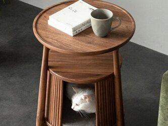 受注生産 職人手作り キャットハウス コーヒーテーブル リビング 家具 木製 ウォールナット 無垢材 エコ LR2018の画像