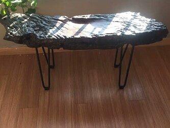 受注生産 職人手作り アイアンウッド テーブル脚 ミニテーブル スケボー 家具 木目 木工 無垢材 エコ LR2018の画像