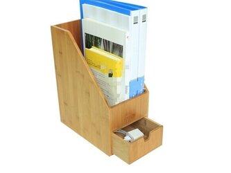 受注生産 職人手作り 小引き出し 本立て 卓上収納 オフィス 小物収納 木製 天然木 無垢材 木工 木目 LR2018の画像