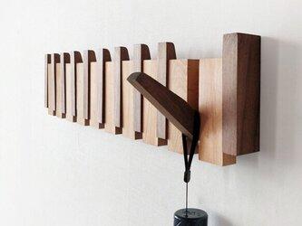 受注生産 職人手作り コートフック 壁掛けフック 無垢材 天然木 木目 木工 ウォールナット 雑貨 エコ LR2018の画像
