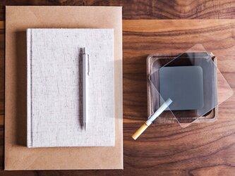 受注生産 職人手作り 灰皿 カバー付き灰皿 インテリア雑貨 天然木 木目 木製 無垢材 ウォールナット LR2018の画像