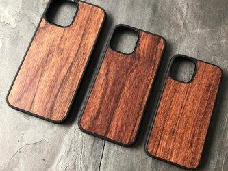 受注生産 職人手作り iPhoneケース 木目 天然木 木製ケース iPhone12 Max 無垢材 木工 LR2018の画像