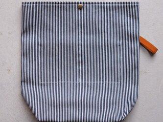 【受注製作】QUATTRO VINI用インナーバッグ 〈 Denim Hickory 〉の画像