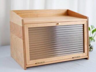 受注生産 職人手作り 食器棚 キャビネット キッチン雑貨 無垢材 木目 木工 ウォールナット 天然木 エコ LR2018の画像