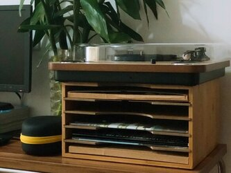 受注生産 職人手作り レコードラック デスク収納 書類収納 木製雑貨 天然木 マツ材 木工 木目 エコ LR2018の画像