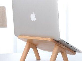受注生産 職人手作り ノートPCスタンド パソコンスタンド 木目 木工 天然木 無垢材 木製 雑貨 エコ LR2018の画像