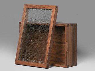 受注生産 職人手作り 小物入れ 収納 キッチン雑貨 無垢材 木目 木工 北欧 ウォールナット 天然木 エコ LR2018の画像