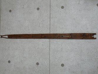 煤竹 燻煙千島笹 根曲がり竹 掛板 短冊掛の画像