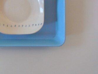 足付角皿 (大)磁器 横すうじの画像