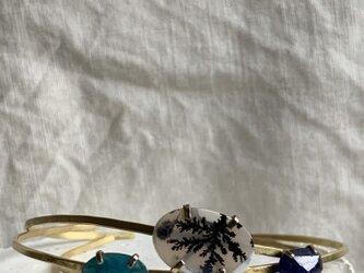 デンドリッククオーツのバングルの画像