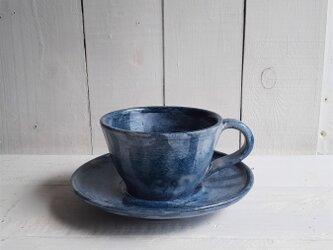 青墨ながし コーヒーカップ&ソーサーの画像