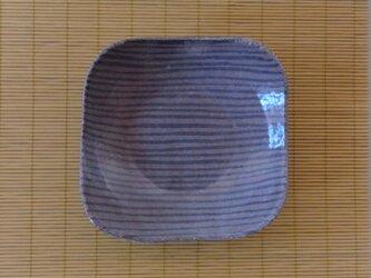 足付角皿 (大)陶器 ボーダーの画像