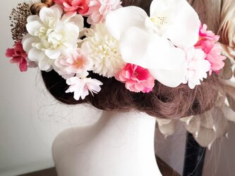 桜hirahira ダリアの髪飾り16点Set No791の画像