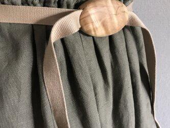 たまご型の木のベルト –栃-の画像