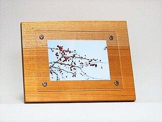 おしゃれな木のフォトフレーム No.4 欅の天然木(L-33)の画像