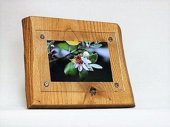 おしゃれな木のフォトフレーム No.13 栗の天然木(L-36)の画像
