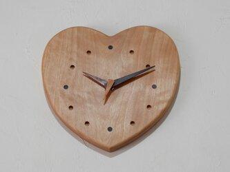 壁掛け時計 (ハート型)の画像