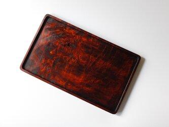 楓トレー 紅染拭き漆仕上げの画像