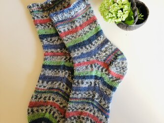 No.519 手編み靴下コットンプレミアムの画像