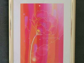 花 日本画 絵画 蓮の画像