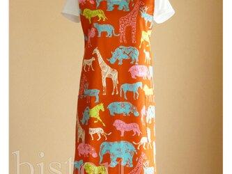 バッククロスエプロン safari-o イージーエプロン フリーサイズ コットン 綿の画像