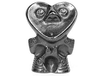 南部鉄器 土偶型鉄玉 南部鉄偶 ハート形鉄偶の画像