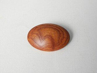ブローチ -ケヤキ楕円-の画像