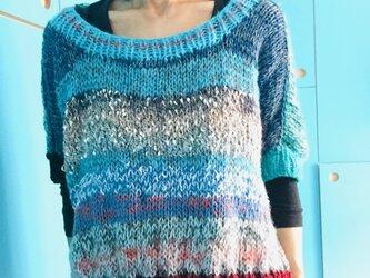 初心者手編みのセーター 1277の画像