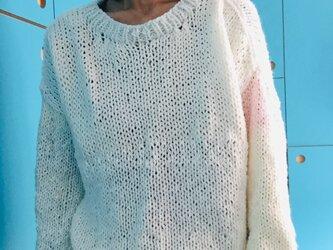 初心者手編みのセーター 1278の画像