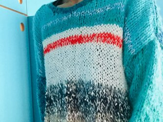 初心者手編みのセーター 1279の画像
