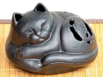 南部鉄器 置物 アロマ 香炉 蚊遣り 猫の画像