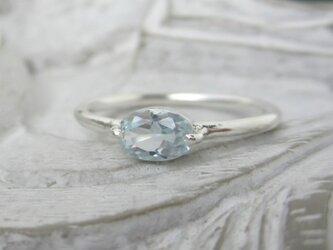 アクアマリン(オーバル型)・リング(silver)の画像