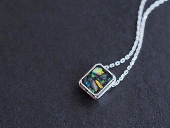 オパール 銀河 ネックレス シルバー925の画像