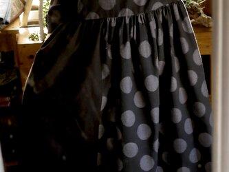久留米絣反物からギャザーワンピースの画像