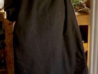 久留米絣ふんわり袖のワンピースの画像