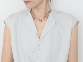 One grain  herkimer necklace 41cmの画像