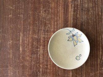 4寸皿 釉彩花唐草紋の画像