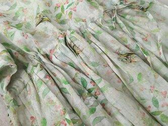 【受注製作】夏涼しい100%リネン麻・ロングワンピース の画像